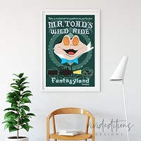 Mr. Toad, Disneyland Poster