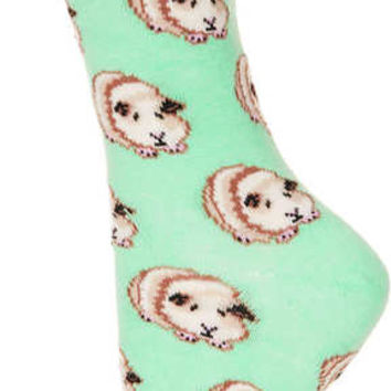 Topshop Green Lime Neon Ankle Socks