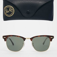 Ray-Ban Clubmaster Sunglasses 0RB3016 at asos.com