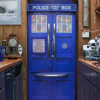 Police Box Refrigerator Kit - Custom made to your fridge