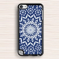 blue flower case,flower ipod case,floral ipod 5 case,blue flower ipod touch case,personalized ipod case,mandala ipod 4,mandala flower ipod 5