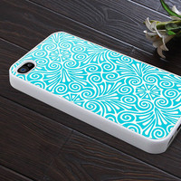 special phone case iphone 4 case iphone 4s case iphone 4 cover blue flower graphic design printing
