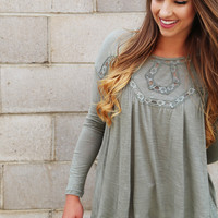 Olive Lace Forever Tunic
