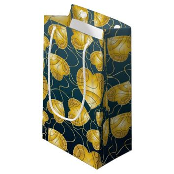 Golden Hearts Pattern Small Gift Bag