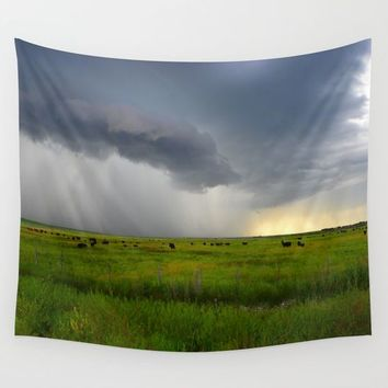 Idaho Thunderstorm Wall Tapestry by Lindsey Jennings Photography