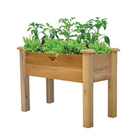 Raised Garden Bed Planter Box in Solid Cedar Wood in Natural Finish - 34-inch
