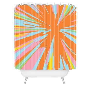 Rosie Brown Pin Wheel Shower Curtain