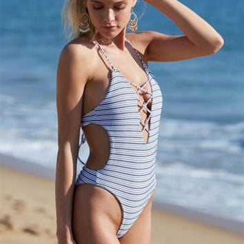 Blue Life Swim Seaside One Piece Swimsuit at PacSun.com