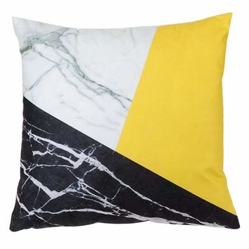 Color Block Design Cushion Cover