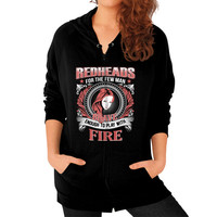 Apparels redhead Zip Hoodie (on woman)