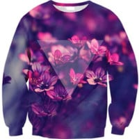 Floral 3D Print Long Sleeve Sweatshirt