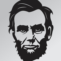 Abraham Lincoln Bumper Sticker Vinyl Decal - President of the United States USA Apple Macbook Skin Laptop Honda Acura Jeep BMW Chevy Dodge