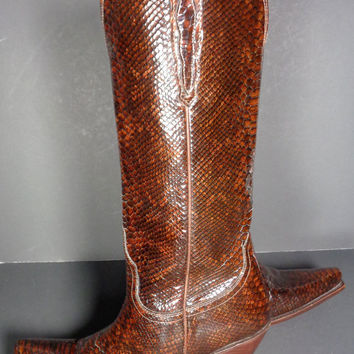 Charlie 1 Horse By Lucchese I4731 Brown Leather Cowboy Boots Women's Size 6.5