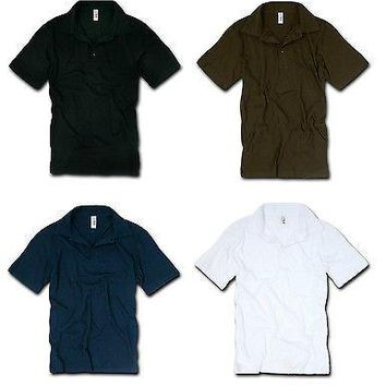 Men's 30S Cotton 3 Button Jersey Polo Shirt- Decky 717- Collar T