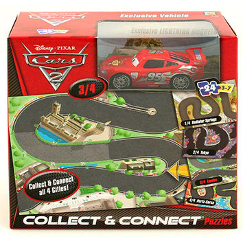 Mattel Disney Pixar Cars 2 Collect and Connect Puzzle [Lightning McQueen]