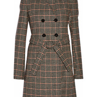 Victoria Beckham - Double-breasted checked wool coat