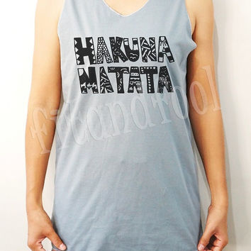 Hakuna Matata Shirts The Lion King Shirts Unisex Shirts Women Shirts Singlet Women Tank Top Sleeves - Size S M L