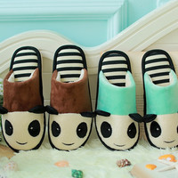 Womens Cute Fuzzy Panda House Slippers