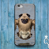 iPhone 4 4s 5 5s 5c 6 6s plus + iPod Touch 4th 5th 6th Generation Cute Custom Hybrid Pug Dog Bird Phone Cover Funny Cool One of a Kind Case