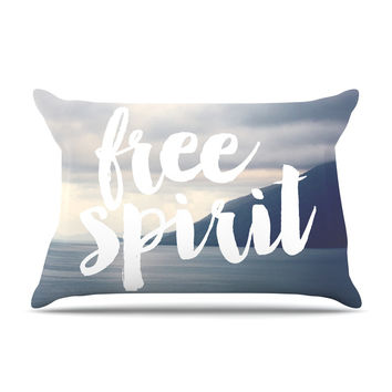 "Catherine McDonald ""Free Spirit"" Coastal Typography Pillow Sham"