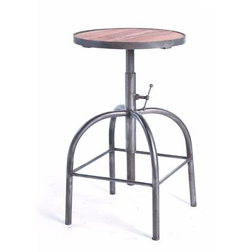Industrial Bar Stool Wood and Steel by Go Home Ltd. 12313