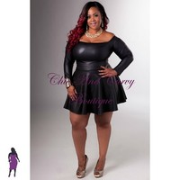 Lookbook New Plus Size Liquid Skater Skirt 1x 2x 3x