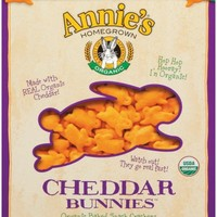 Annie's Organic Cheddar Bunnies Baked Snack Crackers 11 oz. Box (Pack of 4)