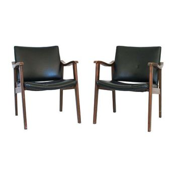 Pre-owned Teak Mid-Century Chairs - A Pair