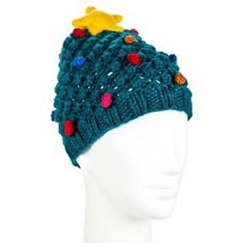 Women's Christmas Tree Beanie Hat - Green