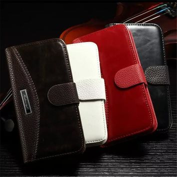 Wallet PU Leather Case For Samsung Galaxy S3 S4 S5 S6 S7 Edge A3 A5 2016 2017 Grand Prime Cover For iPhone 5 5S SE 6 6S 7 Plus