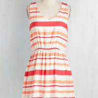Mid-length Sleeveless A-line Give the Bright Answer Dress by ModCloth