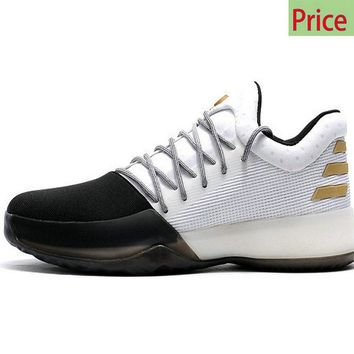 sneaker unisex Adidas Harden Vol. 1 One Disruptor BW0552 White Black Gold James Harden shoes 2017 sneaker