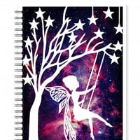 Spiral Notebook - Fairy Notebook - Fantasy Notebook - A5 notebook - Galaxy Journal - Fairy Journal - Teen Girl Gifts - Writing Journal