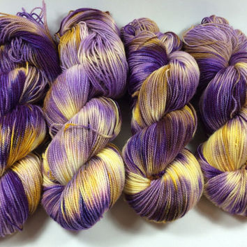 BFL Twist, Sock Yarn, Hand Dyed Yarn, Dancing In The Moonlight, Superwash BFL, blue faced leicester, High Twist, Multi Colored Yarn,