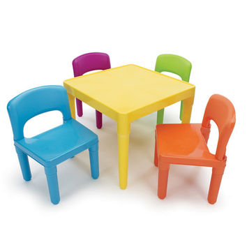 Tot Tutors Kids Square Table and Chair Set