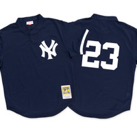 Mitchell & Ness Don Mattingly 1995 Authentic Mesh BP Jersey New York Yankees In Navy