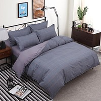 Simple Style Home Stripe Duvet Bedding Set. Available in other Colors