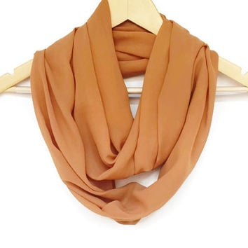 Fall Scarf Camel Brown Chiffon From Herascarf On Etsy Epic