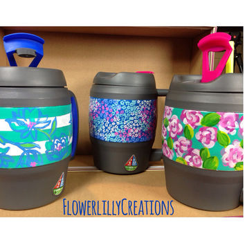 Monogram Lilly Pulitzer Inspired 34 oz. Bubba Keg Hand Painted to Order Gameday Must