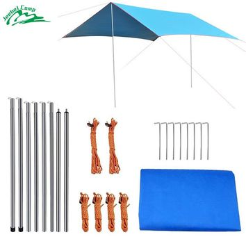 Jeebel 3m*2.9m Sun Shelter With Rod Picnic Tarp Tent from the sun Shade Ultralight  Awning Canopy Outdoor Shade beach tent