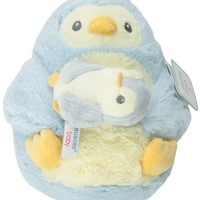 "Aurora World Mommy and Baby Blue Penguin Plush, Mommy 8"", Baby 4"""
