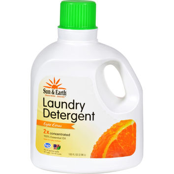 Sun And Earth 2x Laundry Detergent - Light Citrus Scent- Case Of 4 - 100 Oz