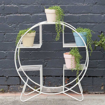 Down To The Woods | Mid Century Plant Stand White