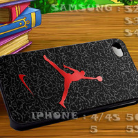 Nike Air Jordan Logo Custom For iphone 4 iphone 5 samsung galaxy s4 / s3 / s2 Case Or Cover Phone.