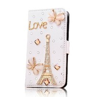 2014 Hotsale!pu Leather Apple Iphone5c Case Style Crystal Iphone 5c Purse Case to World