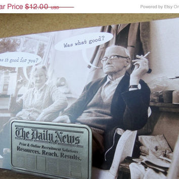 """ON SALE Business Card Holder """"The Daily News"""" -  Letters & Mail Holder ~ Newspaper Stand"""