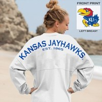 Kansas Jayhawks® Est. 1865 - Classic Unisex Long Sleeve, Crew Neck Spirit Footb