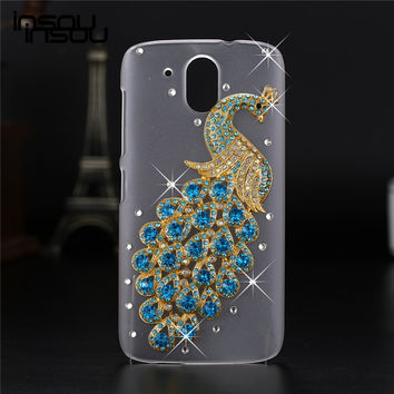 2016 New Luxury 3D case For HTC Desire 526 526G 526G+ 326 326G Crystal Bling Case Rhinestone Cover Case For HTC Desire 526