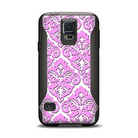 The Pink & White Delicate Pattern Samsung Galaxy S5 Otterbox Commuter Case Skin Set