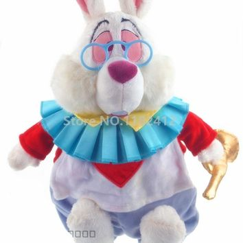 Alice in Wonderland Plush Toy White Rabbit Stuffed Animals 38CM Baby Girls Toys for Children Kids Christmas Gifts